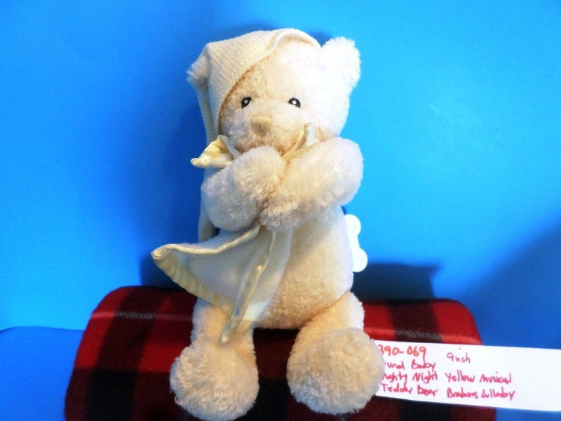 Baby Gund Nighty Night Musical Yellow Teddy Bear