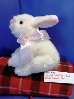 Animal Adventure White Bunny/Rabbit 2010 Plush