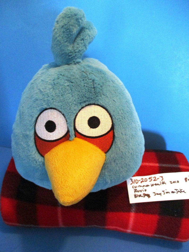 Commonwealth Rovio Angry Birds Jay Jake Jim Blue Bird 2010 Plush