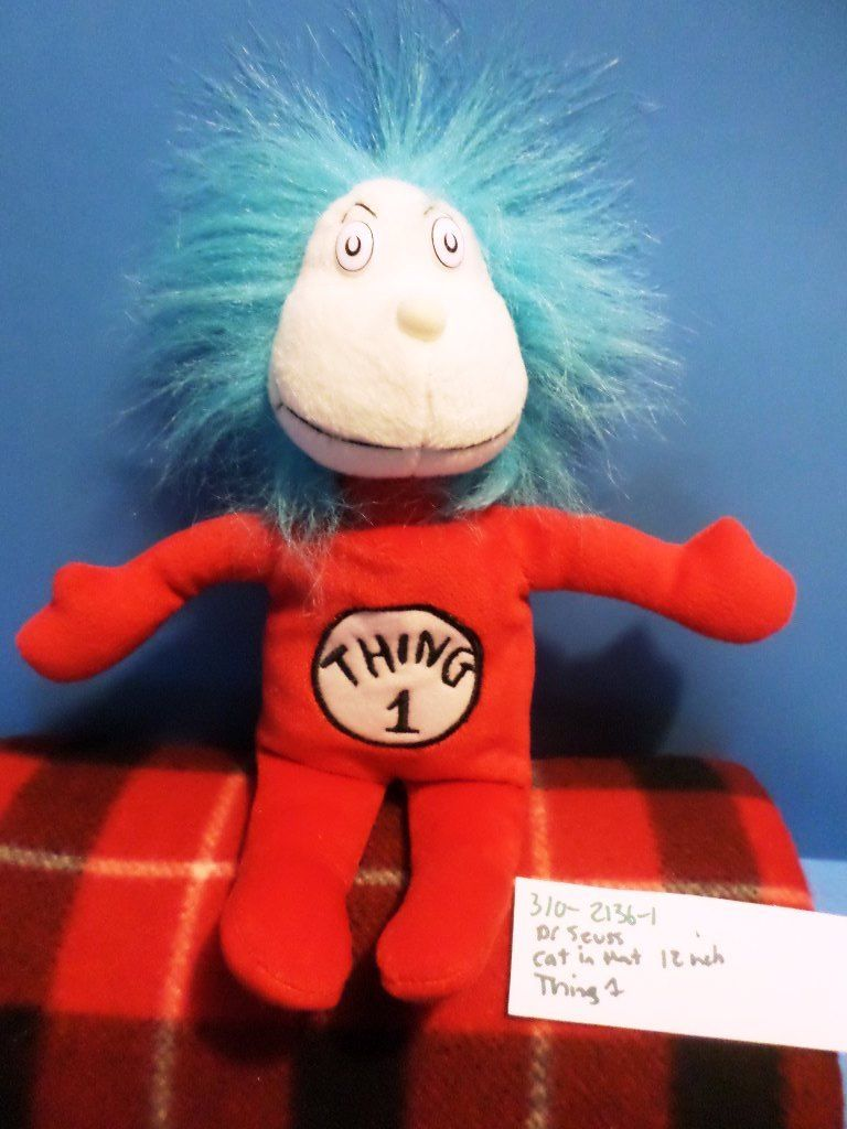 Universal Studios Dr. Seuss Thing 1 2003 Beanbag Plush
