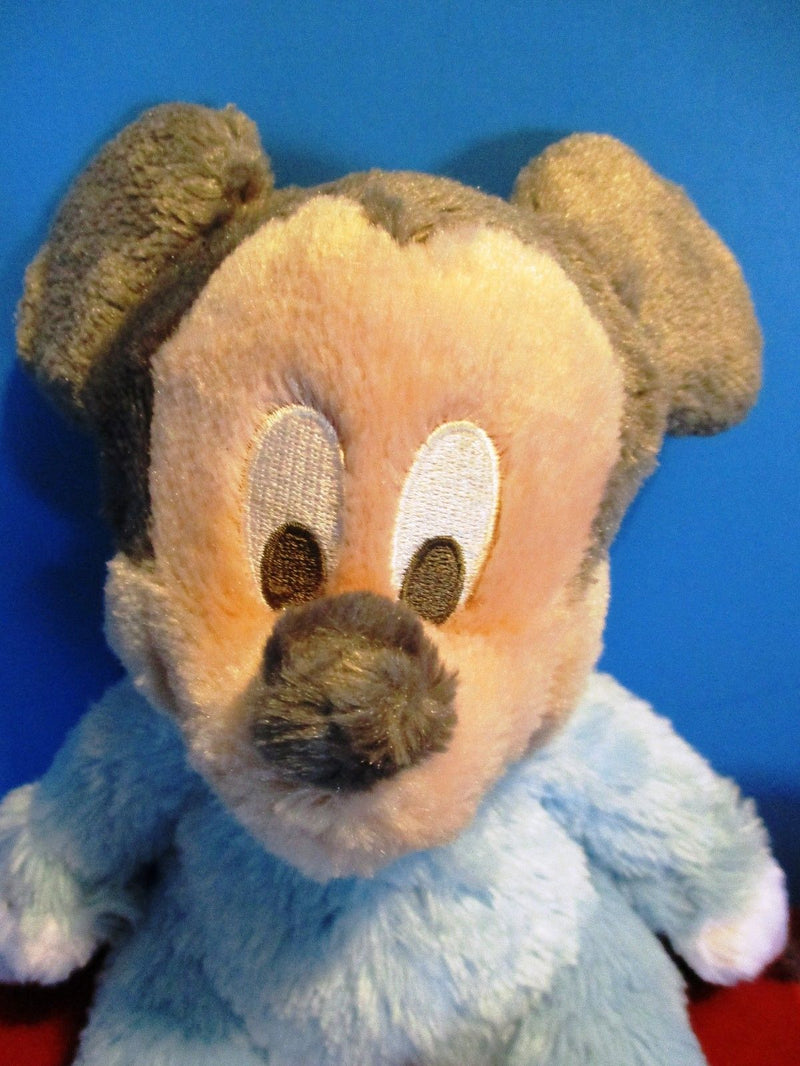 Disney Parks Baby Mickey Mouse Blue Rattle Plush