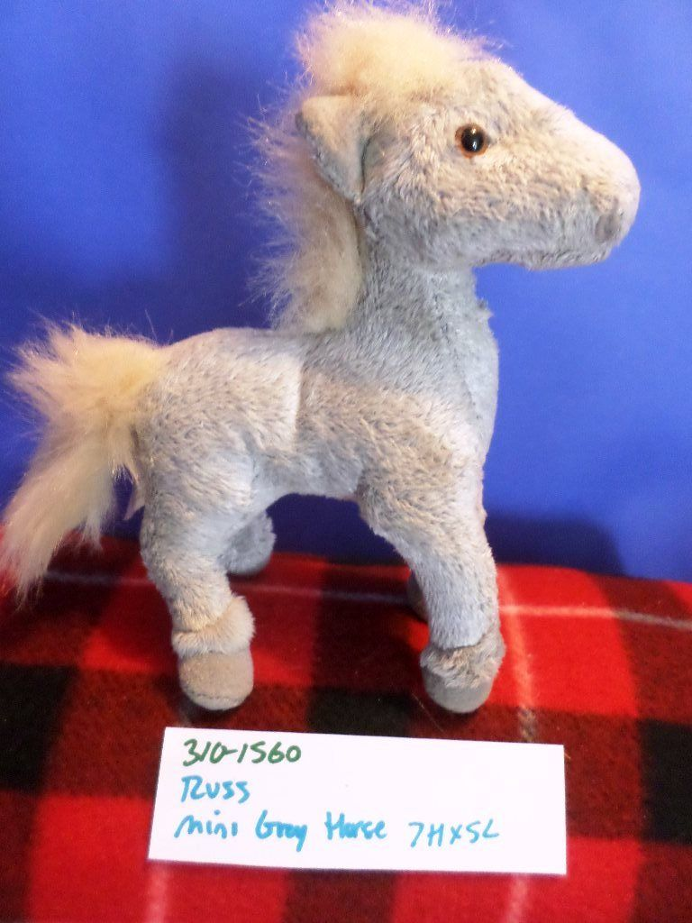 Russ Mini Grey Horse Plush