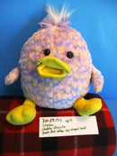 Chosun Chubby Chenille Purple and Pink Egg Shaped Duck Beanbag Plush