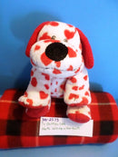 Ty Pluffies Harts the White Dog With Red Hearts 2006 Beanbag Plush