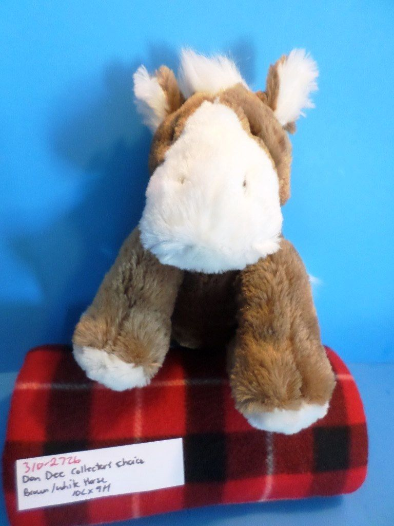 Dan Dee Collectors Choice Brown and White Horse Plush