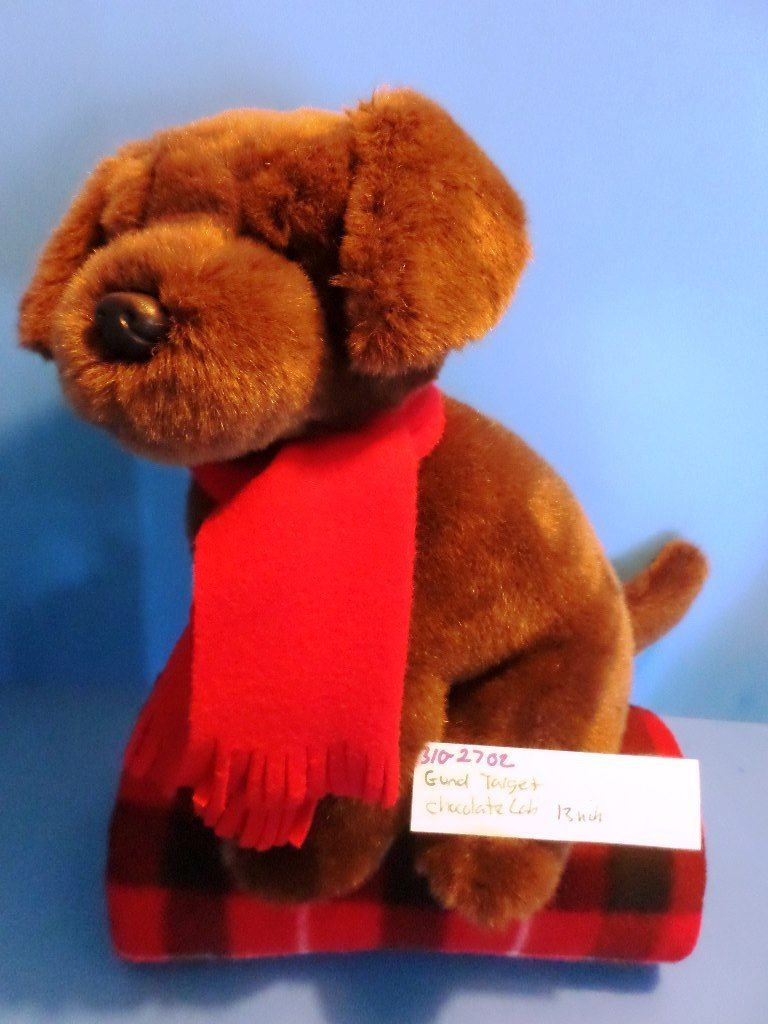 Target Gund Chocolate Lab With Red Scarf plush(310-2702)