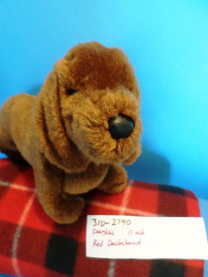 Douglas Red (Brown) Dachshund Beanbag Plush