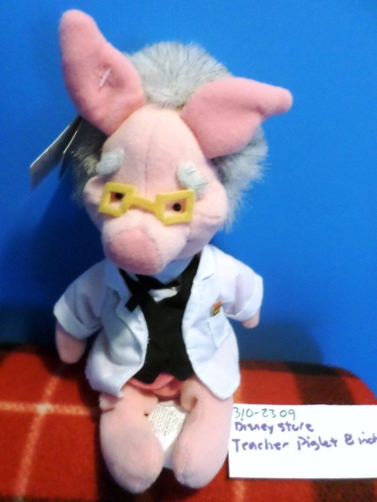 Disney Store Teacher Piglet Beanbag Plush