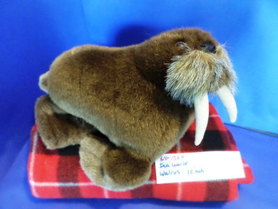 Sea World Brown Walrus plush(310-1364)