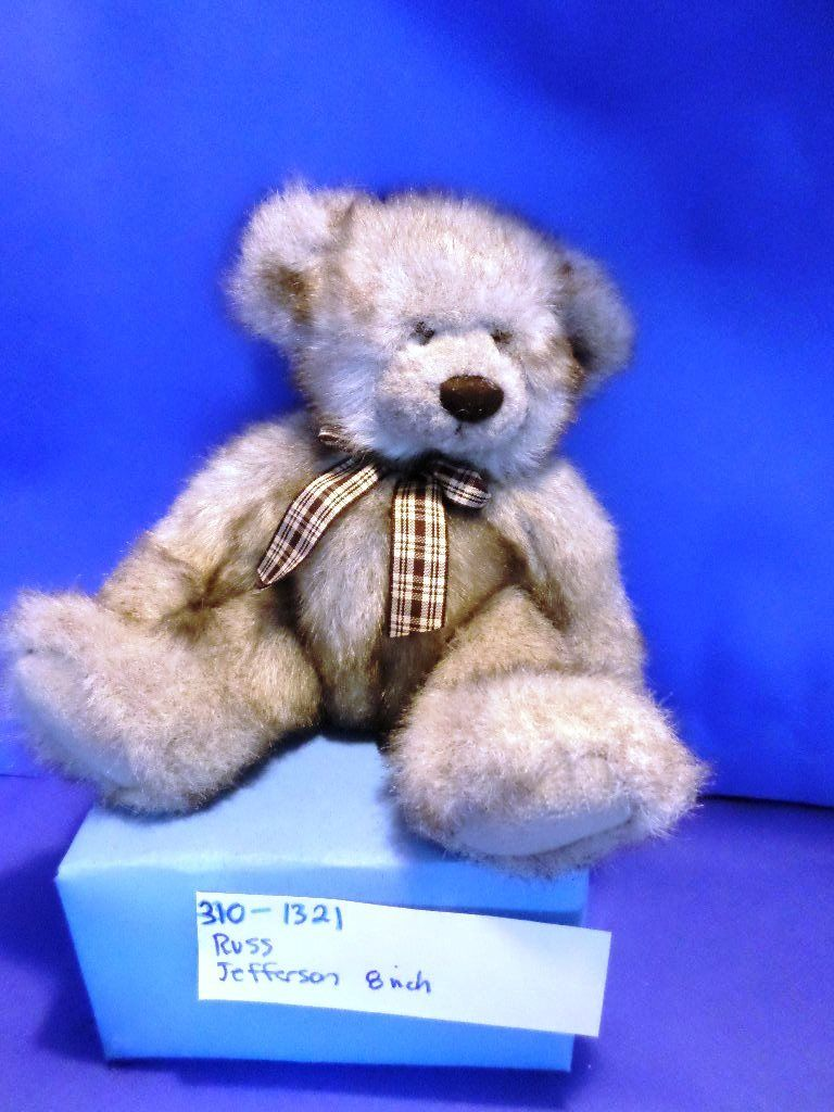 Russ Jefferson Grey Brown Teddy Bear Plush