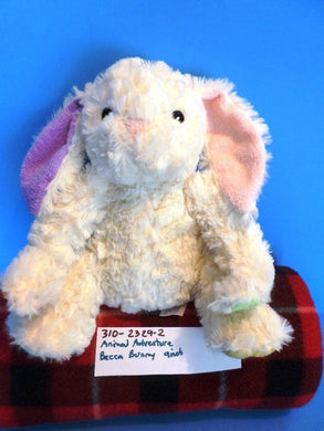 Animal Adventure Becca White Bunny Rabbit Beanbag Plush