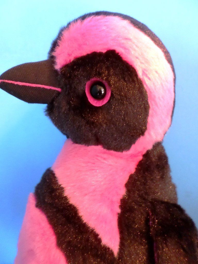 Aurora Girlz Nation Pink and Black Penguin Plush