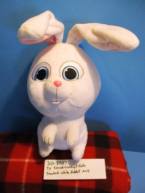 Ty The Secret Lives Of Pets Snowball White Bunny Rabbit 2016 plush(310-3707)