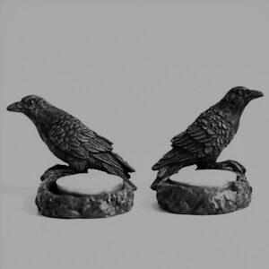 Tea Lite Holders - Ravens