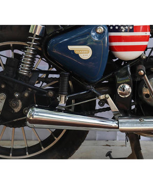 Torpido or Mini Cooper  Exhausts and Silencers for Royal Enfield Classic Standard and Electra