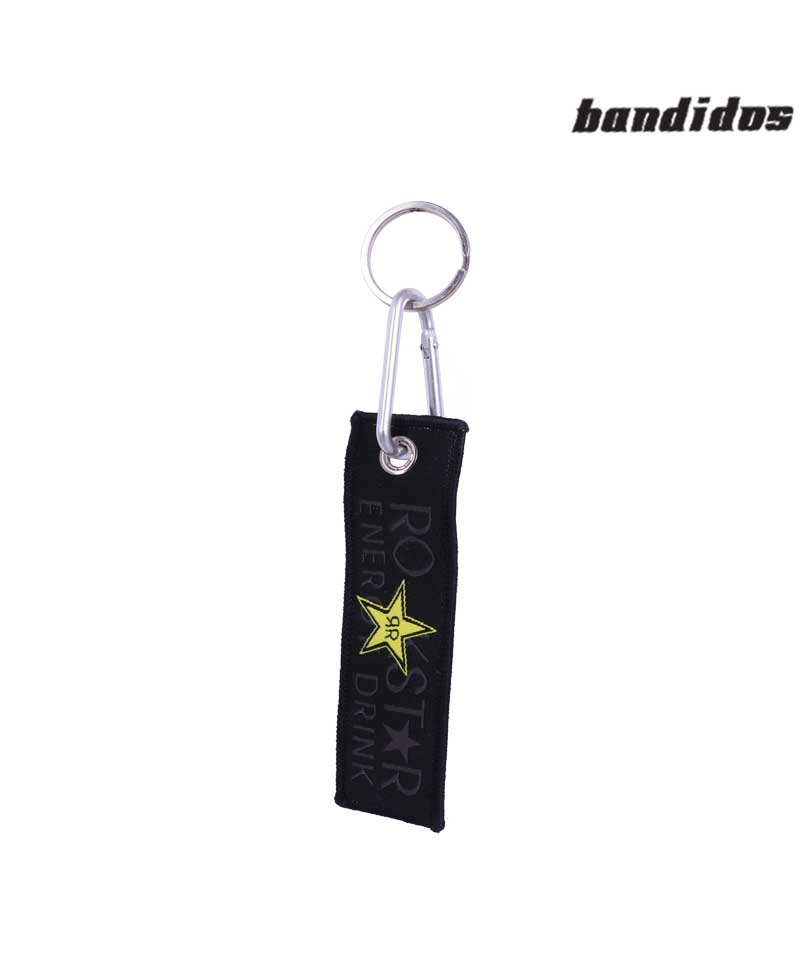 Rockstar Energy Drink Black Cloth Keychain