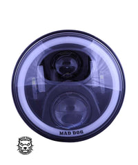 Mad Dog FR 60 Dual Ring  Headlight for Motorcycles