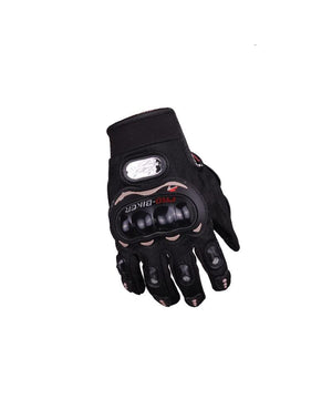 Pro Biker Full Black Riding Gloves for Motorcycle Riders