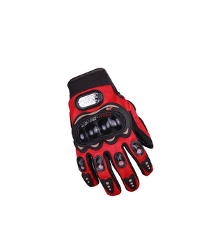 Pro Biker Red Riding Gloves for Motorcycle Riders