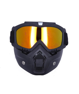 BSDDP Tinted Goggles with mask for Motorcycle riders