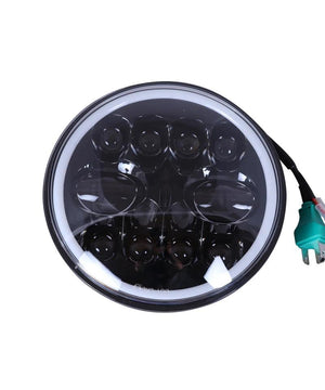 Raceby 7 Inch 11 LED With Full Ring Headlight