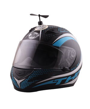 Motorcycle Helmet Accessory:  Decoration Suction Cup with Rotate Fan installed on THH helmet