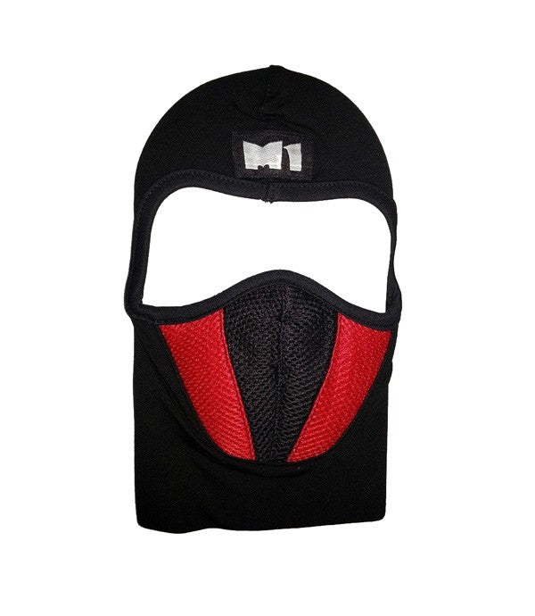 M1  Full Black and Red Face Mask