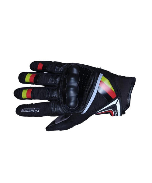 Masontex Yellow Red Black Gloves
