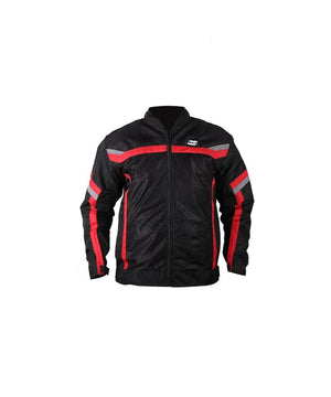 Moto Wear Air Master Perforated Textile Jacket-Black  and Red