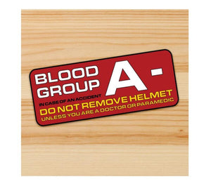 A- Blood Group Motorcycle stickers