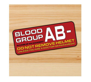 Blood Type AB- Motorcycle stickers