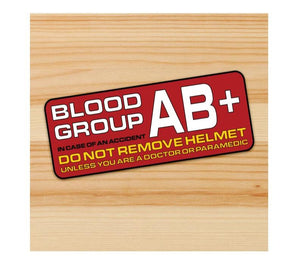 Blood Type AB+ Motorcycle stickers
