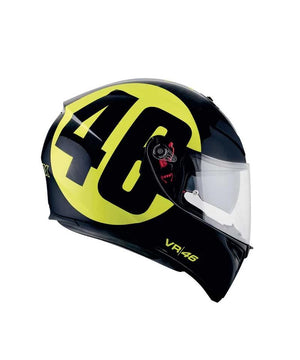 AGV K3 SV Bollo 46 W Black Yellow Helmet