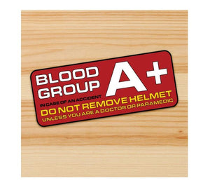 Blood Group A + Motorcycle stickers