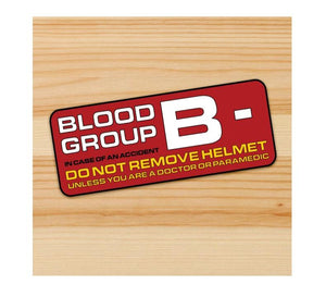 Blood Type B- motorcycle stickers