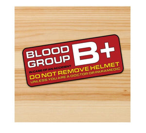 Blood Type B+ Motorcycle stickers