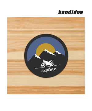 Explore adventure Stickers for motorcycles