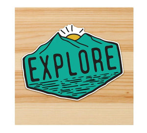 Explore Motorcycle Sticker
