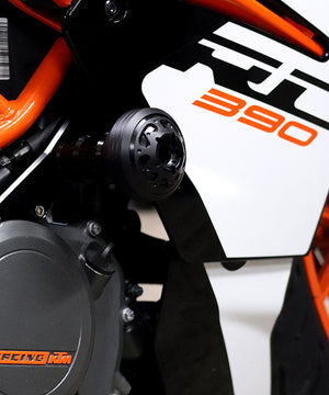 Frame Sliders Black for KTM RC 390