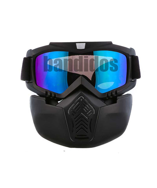 Goggle With Mask Blue Shade