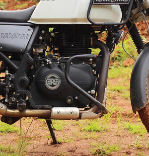 Black Ag Star Crash Guards For Royal Enfield Himalayan