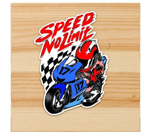Speed no limit stickers for motorcycles