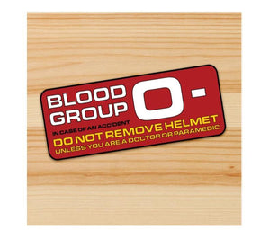 Blood Group O- Motorcycle stickers