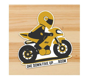One down Five Up Motorcycle Sticker