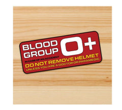 Blood Group O+ Motorcycle stickers