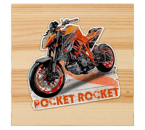 Pocket rocket sticker for motorcycle and cars