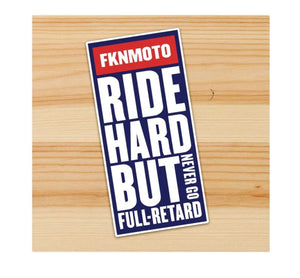 Ride Hard Motorcycle Sticker