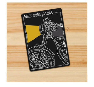 ride with pride motorcycle sticker