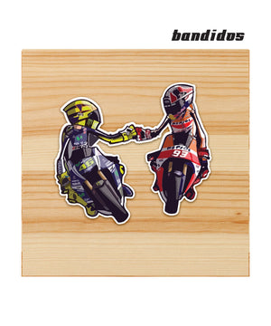 VR46 and MM93 sticker for motorcycles