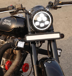 Raptor 7 Inch LED Headlights with ring for Royal Enfield Motorcycles